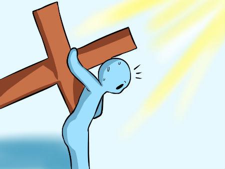 ar krusta un ciešanu palīdzību ir jāsavalda miesa
