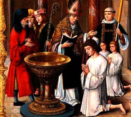 Dievs ir tas, kurš tevi svētdara: Svēto Augustīnu krista Milānas bīskaps Ambrozijs