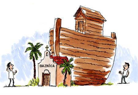 Draudzes ēka pārbūvēta par Noasa šķirstu