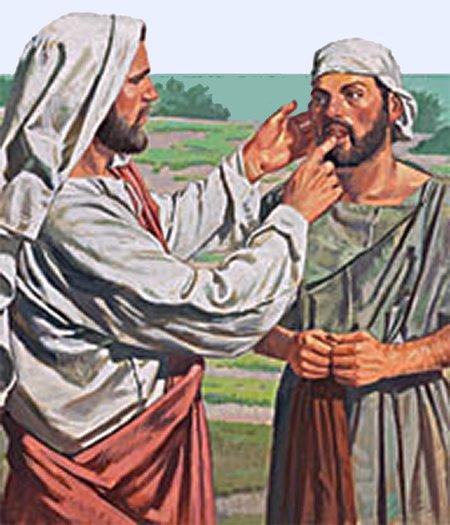 Dieva izpalīdzīgā roka palīdz dzirdēt un runāt