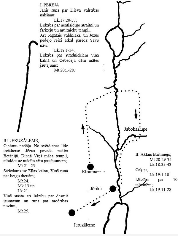 Jēzus misijas ceļojumu karte