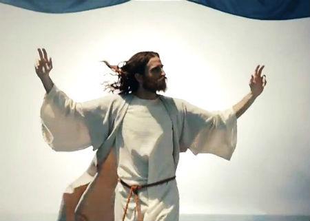Jēzus reklamē sporta totalizatoru