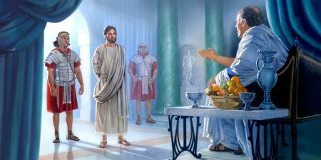 Jēzus romiešu varas pārstāvju priekšā
