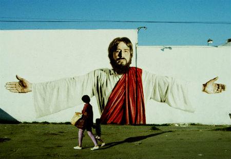 Jēzus tēls uz sienas