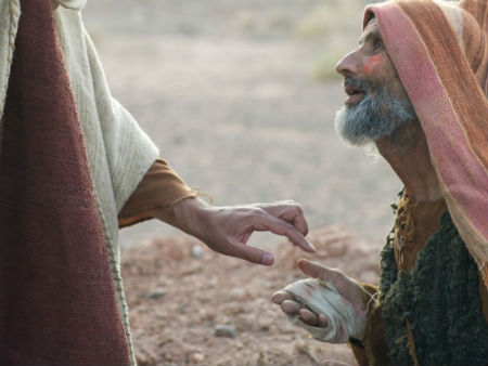 Jēzus un spitālīgais