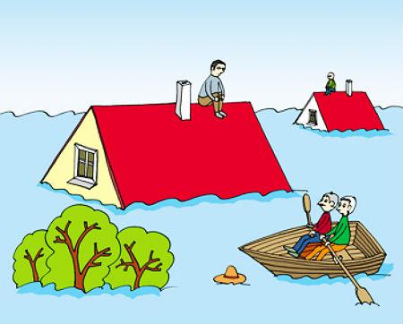 Kā Dievs palīdz plūdos