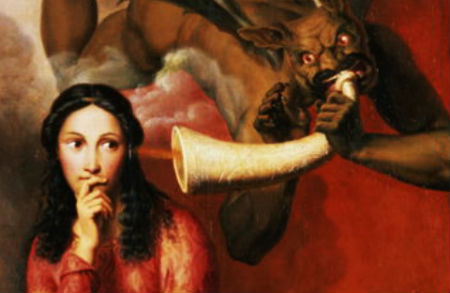kārdinātāja pirmais un spēcīgākais sprediķis