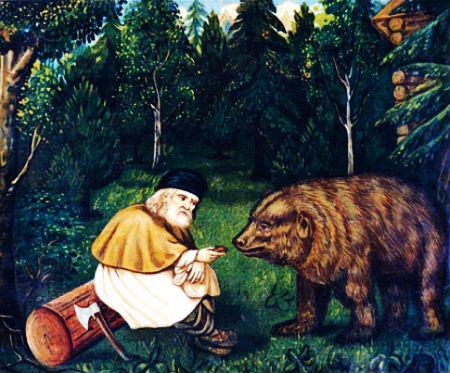 stāsts kā lācis kļūst par kristieti