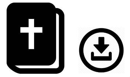 Lejupielādētās Bībeles