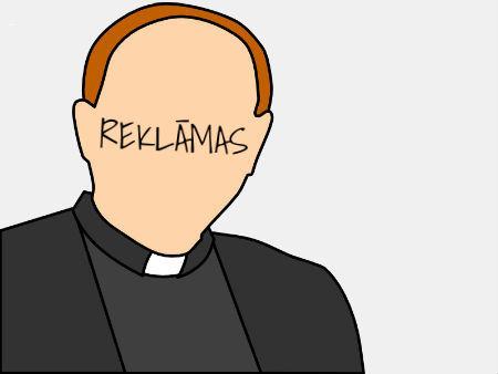 Luterāņu garīdznieks kļuvis par reklāmas seju