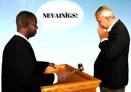 nevainīgs Dieva tiesas priekšā