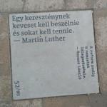 Mārtiņa Lutera citāts Budapeštā