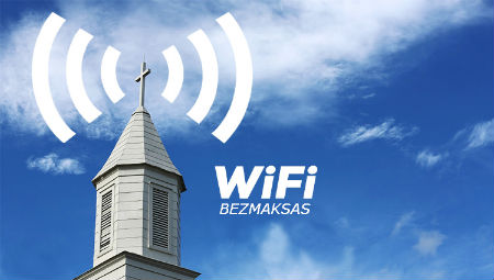 bezvadu internets baznīcās par brīvu