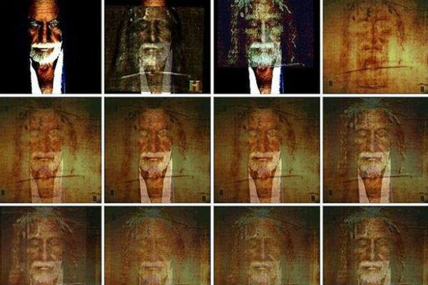 Šeit redzami Braiena Leonarda Golaitlija Maršala un Turīnas līķauta attēli