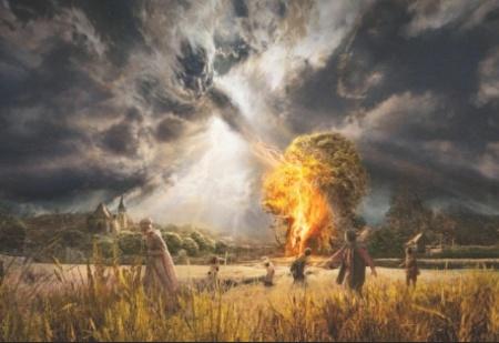 Dievs ar Saviem baušļiem un draudiem nejoko