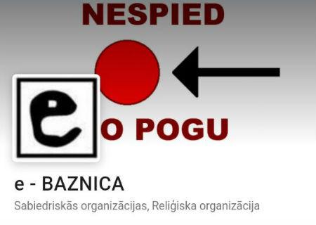 draugiem.lv par e-BAZNICA lapas aktivitātēm