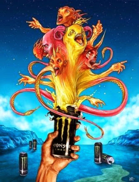 enerģijas dzēriens no sātana