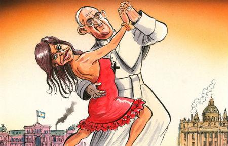 iemūžināts, kā pāvests griež draisku deju soli