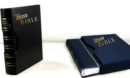 izgriežamā un ielīmējamā Bībele