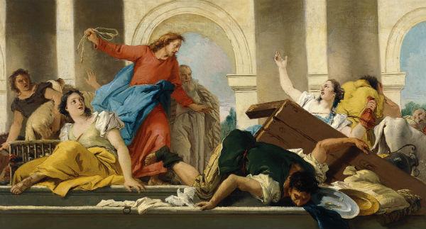 Jēzus izdzen tirgotājus no tempļa