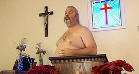 Baznīca kailiem dievlūdzējiem