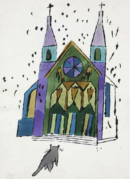 Kaķis nespēj izjaukt dievkalpojumu