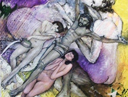 Katolis izrāda zaimojošas gleznas