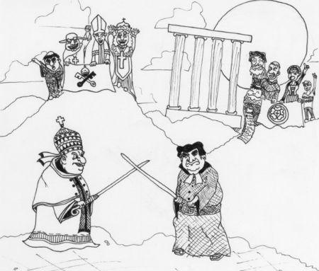 Konfrontācija Romas pāvesta varas un autoritātes jautājumā
