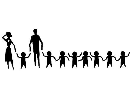 Kristietēm ģimenes kuplākas