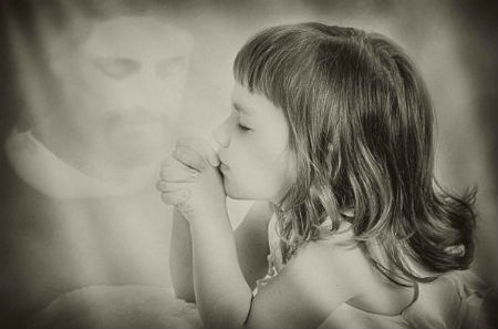 bērnu nopūtas - lūgties Jēzu