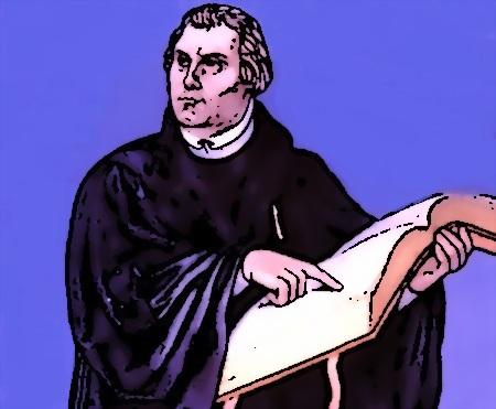 Mārtiņš Luters norāda uz Bībeli