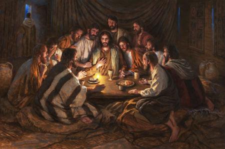 Matejs un Lūka par Jēzus pēdējo mielastu
