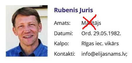 Noklusētais par Jura Rubeņa aiziešanu no mācītāja amata