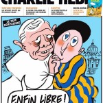 pāvests un Šveices gvards Charlie Hebdo