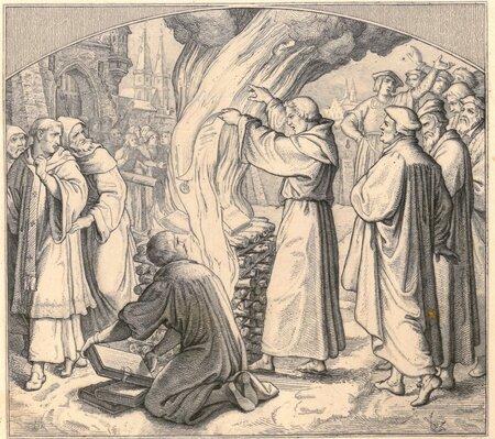 Reakcija uz Lutera grāmatu dedzināšanu