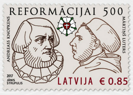 Reformācijas jubilejai veltīta pastmarka arī Latvijā