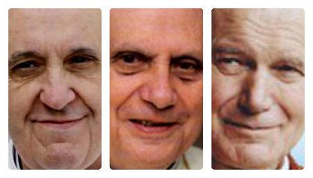 Reklāmas, kurās izķengāts Romas pāvests