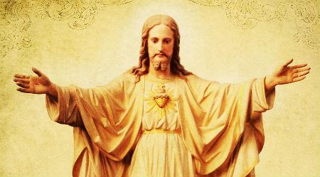 zem Jēzus svētījošām rokām